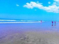 """The first thing to do is run to beach, we stayed at the most fashionable area in Bali """"Seminyak"""" - Flores Sea"""