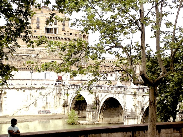 river overview of st angelo and bridge