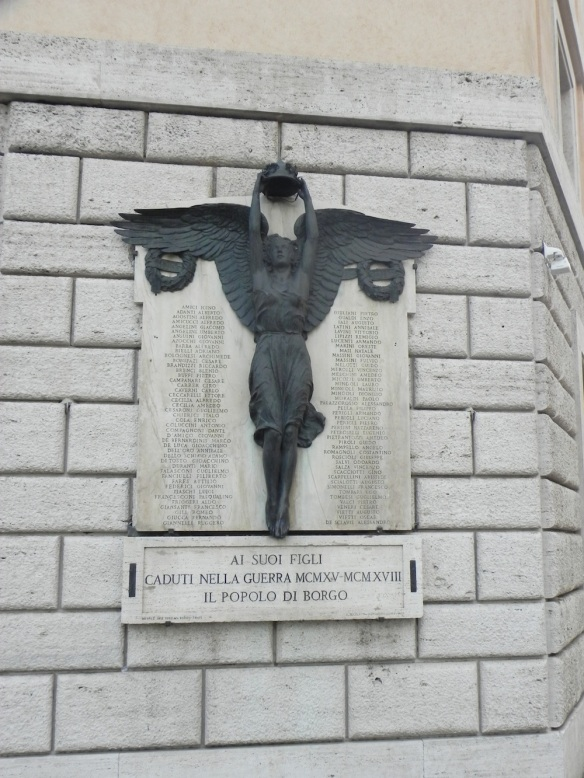 an angel lady wall art statue that is so powerful in rome vatican city during my travel