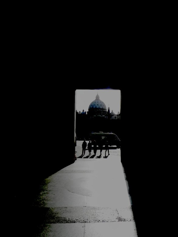 a black and white photograph of the door that takes you to the vatican in rome italy photography