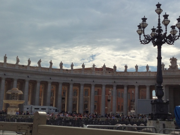 This is a photo that i took and i am in love with the art the creation of the vatican architecture