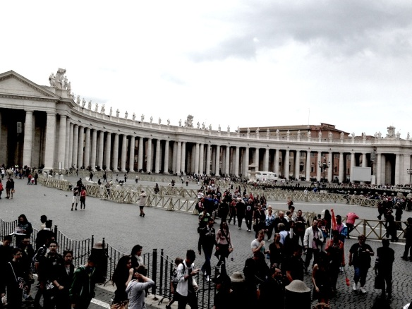 Picture showing the arches and architecture of the gorgeous vatican city
