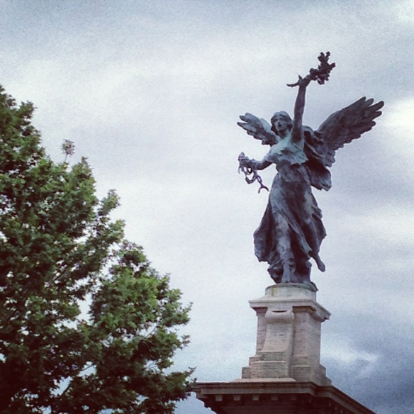 my favorite welcoming angel statue at the castle saint angelo rome