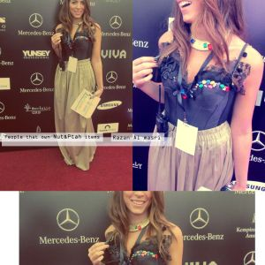 Razan Masri wearing Nut & Ptah top at the Mercedes-Benz Fashion Week Amman