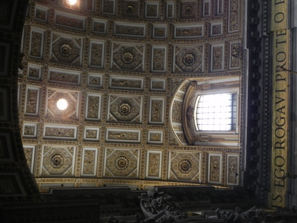 zoom in on too the art of the architecture at the vatican art is art Michael Angelo
