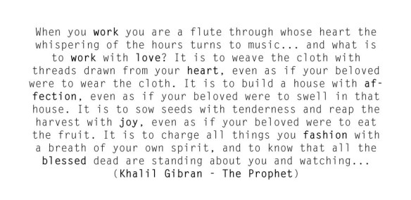 Quote on work by Khalil Gibran