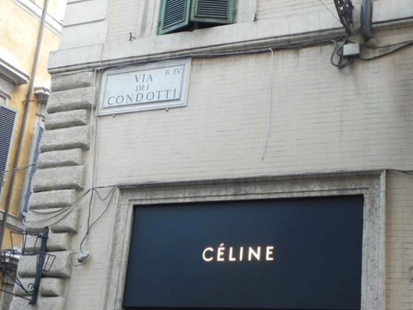 Celine at the Via Condotti