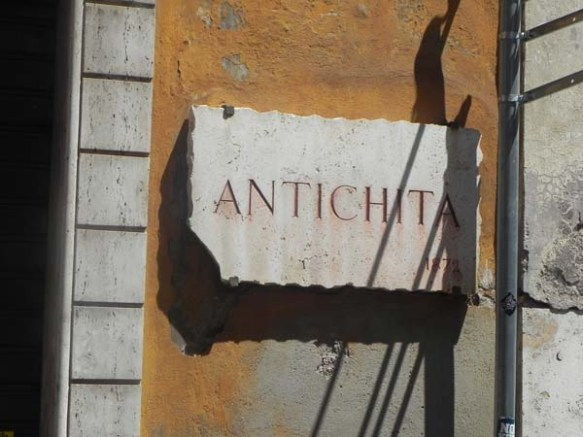 Street sign of Antichita