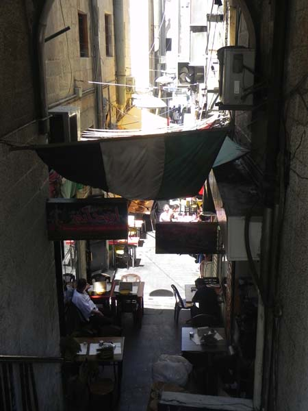 Alaadin style alley or street in downtown Amman al balad