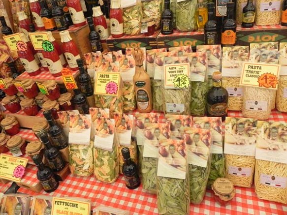 pasta packaged bags at the market