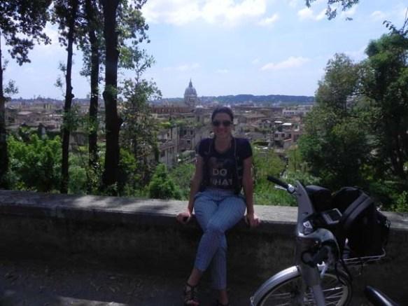 blogger razan masri at villa borghese overlooking rome roma