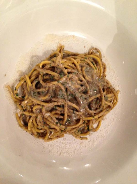literally the best black truffle pasta in rome