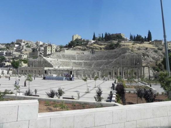 The roman amphitheater Amman Jordan downtown