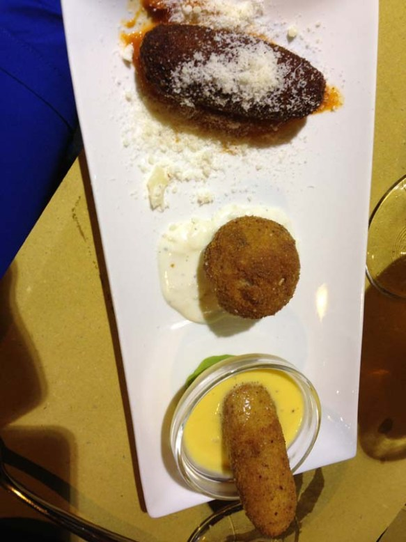 For the best three kind suppli in town try bir and fudd at trestevere rome