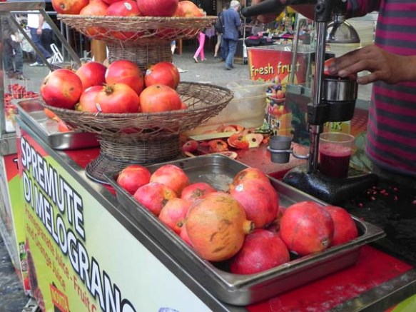 pomegranate fresh juice at the market