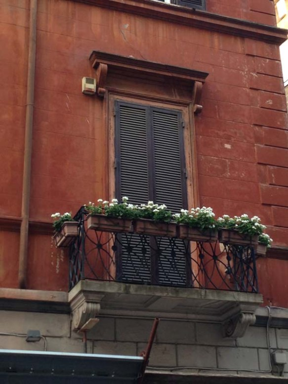 Cute Balcony at the spanish steps