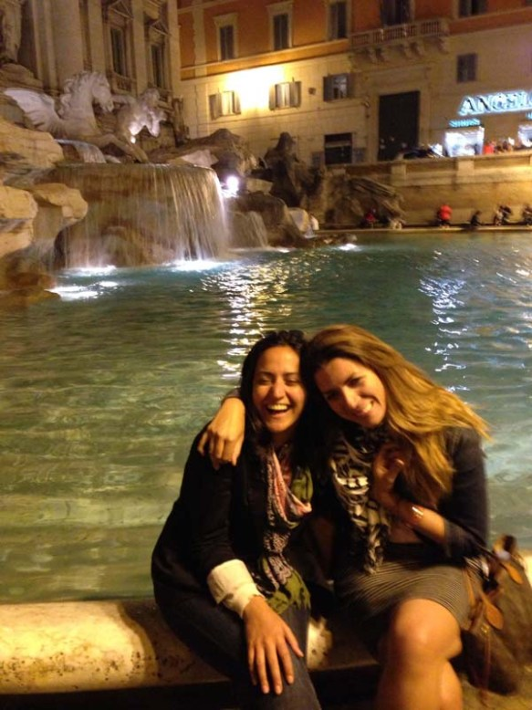 Me and my bestfriend natasha at the trevi fountain making wishes