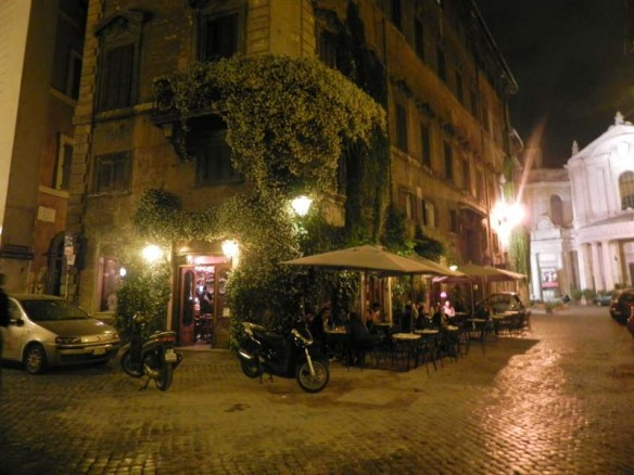 Nightlife at trastevere rome italy