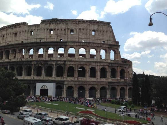 Front view of the Piazza del Colosseo Colosseum rome italy