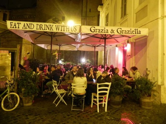 Grazia and Graziella great cute hip urban restaurant in Rome
