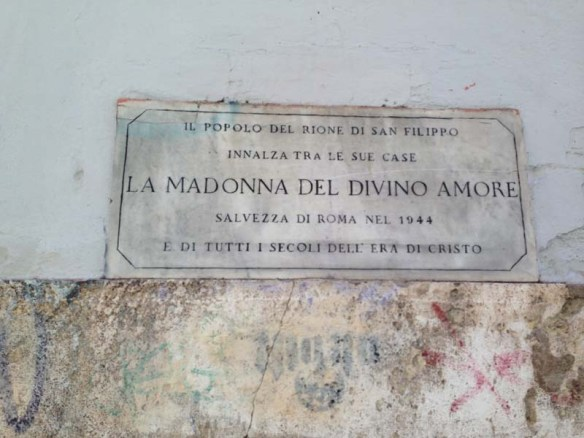 A street sign of Madonna dei Monti