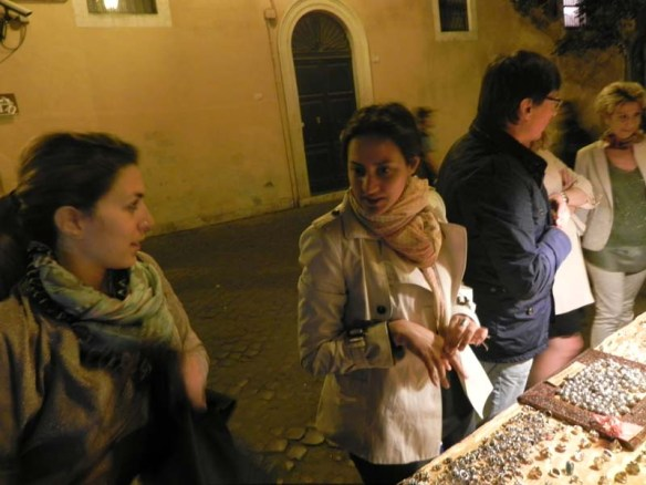 Shopping for rings at trastevere Rome