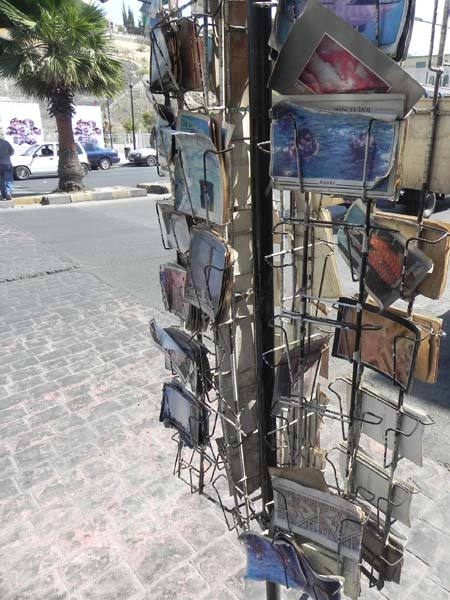 Old vintage postcards of jordan at al balad downtown Amman
