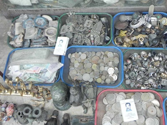 Silver coins and antiques at al balad downtown jordan