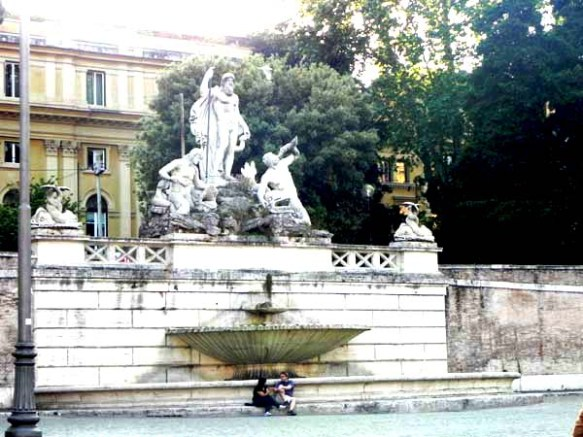 Fountain at the piazza dei popolo