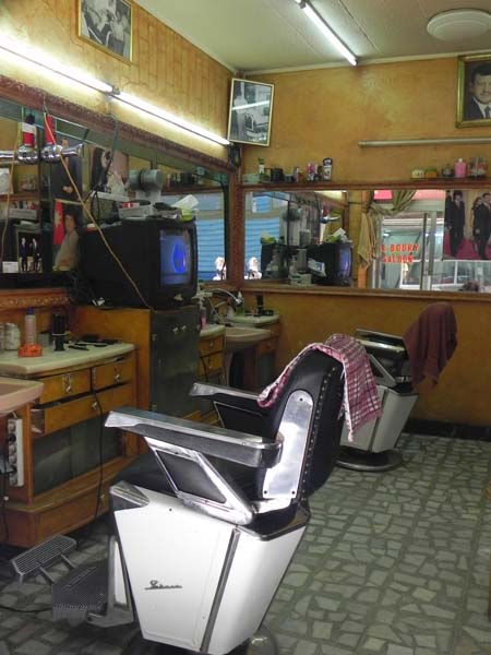 A very old retro mens Barber in downtown amman albalad