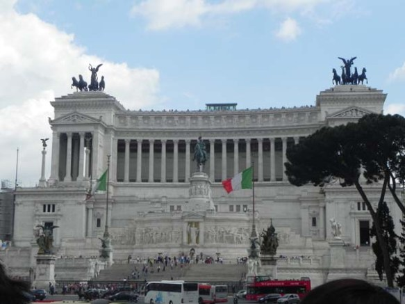 close up of the piazza venezia and the italian flag brilliant architecture