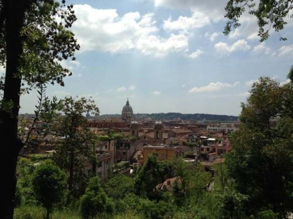 Rome Roma italy from Villa Borghese