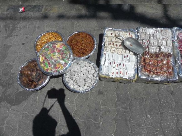 Syrian sweets sold between the shops of Al Balad downtown Amman