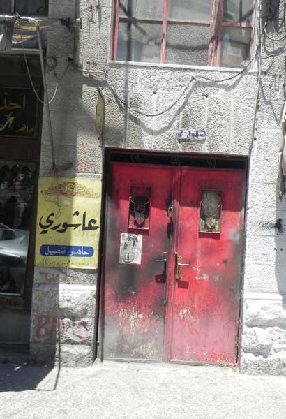 Red door at al Balad downtown Amman