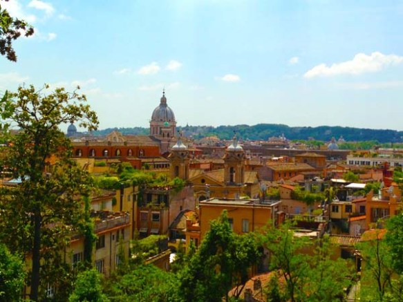 Close of rome view from villa borghese