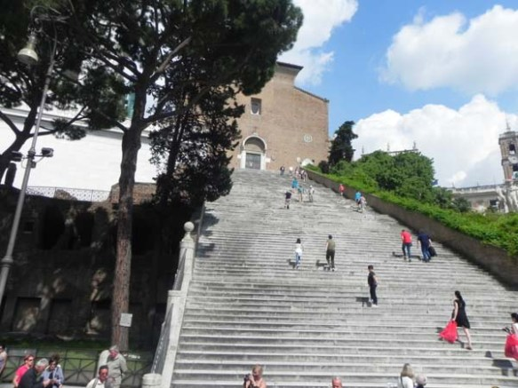 stair way to heaven rome italy Capitoline Hill
