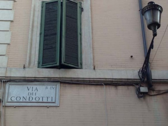 Via Condotti Street sign