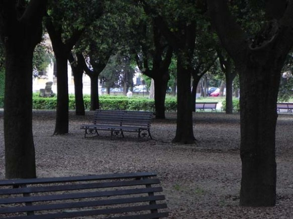 Park Benches at Villa Borghese