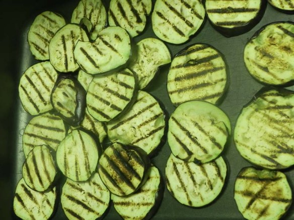 Grilled eggplants to create Cavatelli with Norma