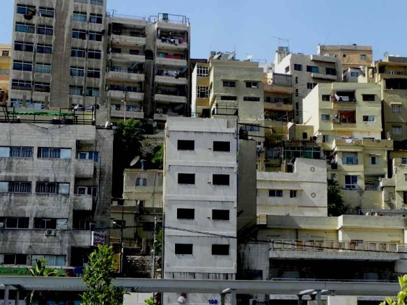 little boxes of houses in downtown Al Balad Amman Jordan