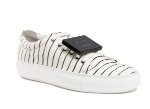 Acne stripes sneakers 370USD 2 - Adriana stripe white blk woman shoes