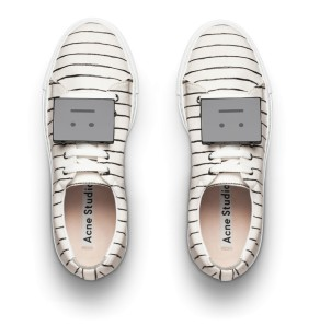 Acne stripes sneakers 370USD - Adriana stripe white blk woman shoes