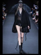Ann Demeulemeester Hip hippie sheer chiffon elegance tailored tweed emroiderry sequence print hip funky pop Spring Summer 2014 fashionweek paris london milan newyork nyc-1
