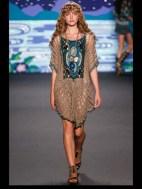 Anna Sui Hip hippie sheer chiffon elegance tailored tweed emroiderry sequence print hip funky pop Spring Summer 2014 fashionweek paris london milan newyork nyc-4_1