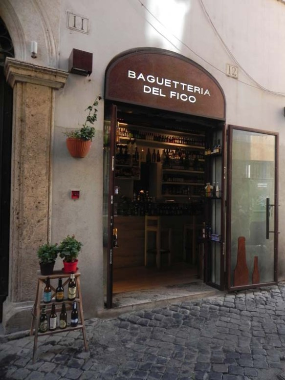 a signage of the baguetteria del fico with its exterior design bouqtiue shop