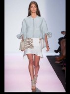 BCBG Max Azria elegance tailored tweed emroiderry sequence print hip funky pop Spring Summer 2014 fashionweek paris london milan newyork nyc-4