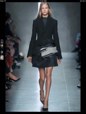 Bottega Veneta dark gothic elegant classic tailored ruffles earthy funky pop Spring Summer 2014 fashionweek paris london milan newyork nyc-11