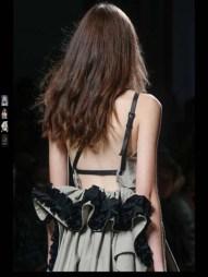 Bottega Veneta dark gothic elegant classic tailored ruffles earthy funky pop Spring Summer 2014 fashionweek paris london milan newyork nyc-5