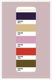Budapest Hotel Color Chart Pantone