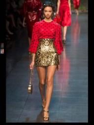 Dolce & Gabbana collection theme roman romanian empire Fashion Week Spring Summer 2014 paris milan london nyc newyork -115